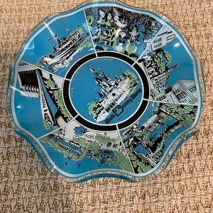 Vintage Walt Disney World Glass Dish